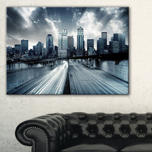 City with Blue Tint - Cityscape Canvas print