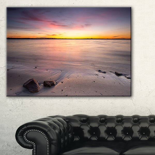 Beautiful Natural Sea during Sunrise - Large Seashore Canvas Print