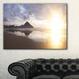 Sunset at Donostia Beach - Seashore Canvas Wall Artwork