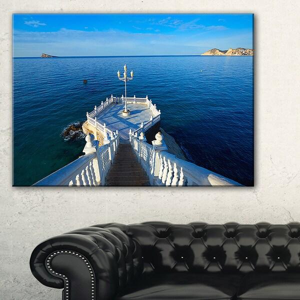 Benidorm Mirador Del Castillo Lookout Point - Seashore Canvas Wall Artwork