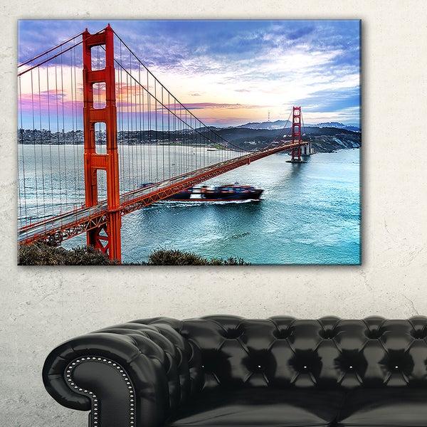 Golden Gate in San Francisco - Sea Bridge Canvas Wall Artwork