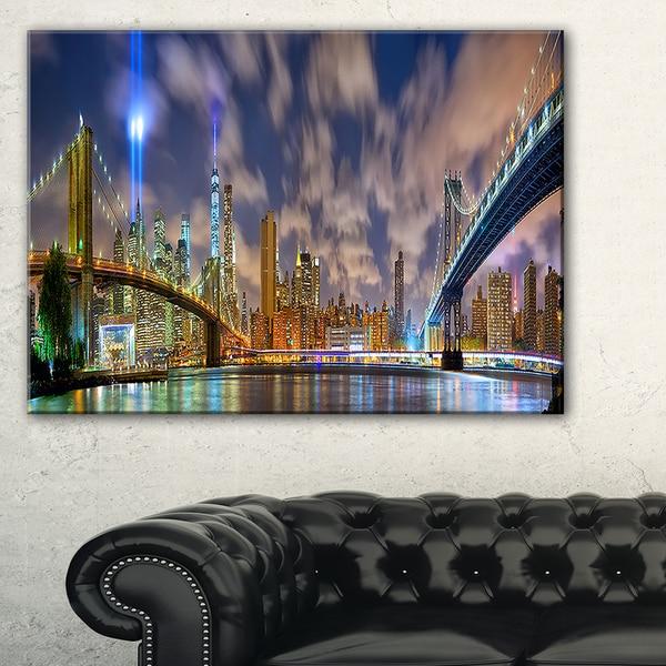 Manhattan in Memory of September 11 - Cityscape Canvas print