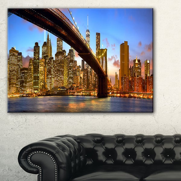 Manhattan Panorama with Skyscrapers - Cityscape Canvas print