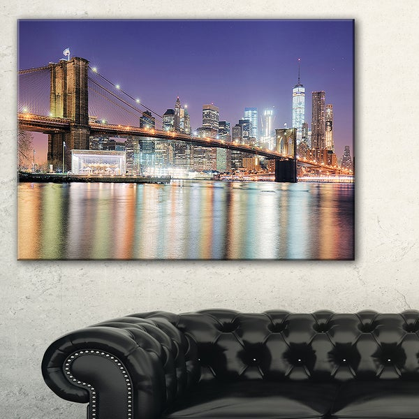 New York City with Freedom Tower - Cityscape Canvas print
