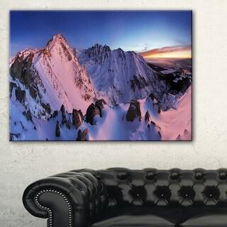 Slovakia Tatras Winter Mountains - Landscape Wall Art Canvas Print