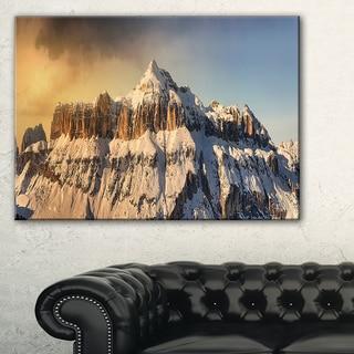 Dramatic Overcast Sky over Alps - Landscape Wall Art Canvas Print