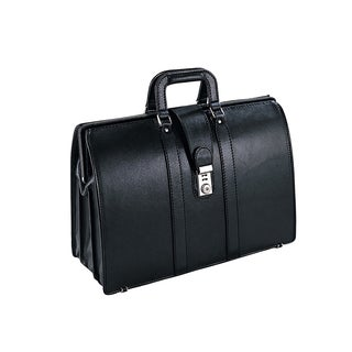 Preferred Nation Black Leather Lawyer Laptop Briefcase