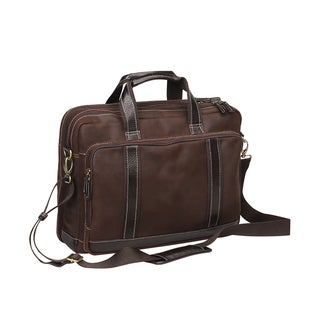 Preferred Nation Outback Leather/Mesh 17-inch Laptop Briefcase