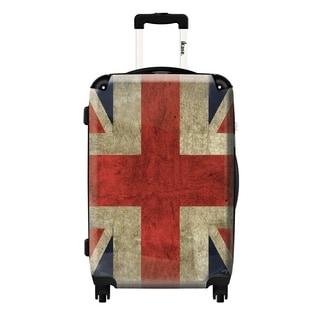 iKase 'UK Vintage Flag' 24-inch Fashion Hardside Spinner Suitcase