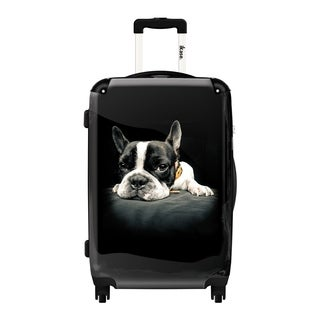 iKase 'My Dog Is Relaxing' 24-inch Fashion Hardside Spinner Suitcase