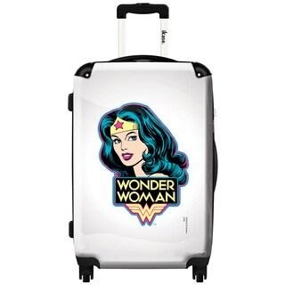 iKase 'Wonder Woman Portrait' 24-inch Fashion Hardside Spinner Suitcase