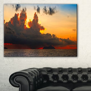 Beautiful Sunset over the Clouds - Landscape Art Canvas Print