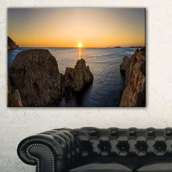 Ibiza Island Mediterranean Sunset - Landscape Art Canvas Print