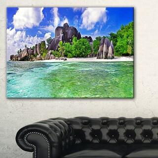 Amazing La Diguse Island Seychelles - Landscape Art Canvas Print