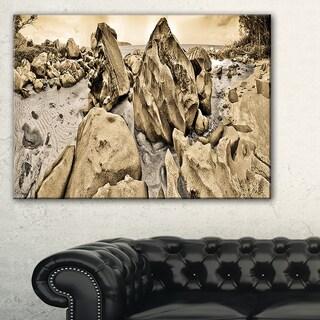 Rocky Praslin Seychelles Panorama - Landscape Art Canvas Print