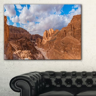 White Canyon at South Sinai Egypt - Landscape Art Canvas Print