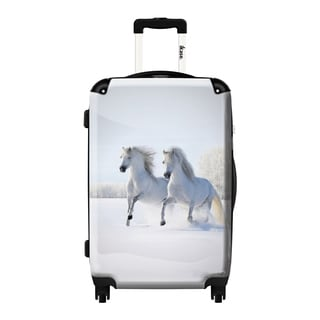 iKase 'Snow White Horses' 24-inch Fashion Hardside Spinner Suitcase