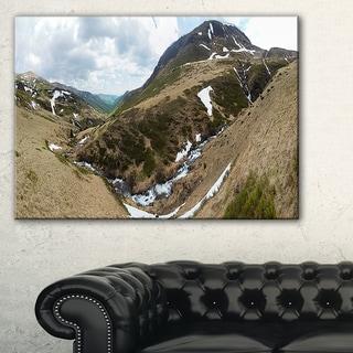 Wild Sprint Mountain Panorama - Landscape Artwork Canvas