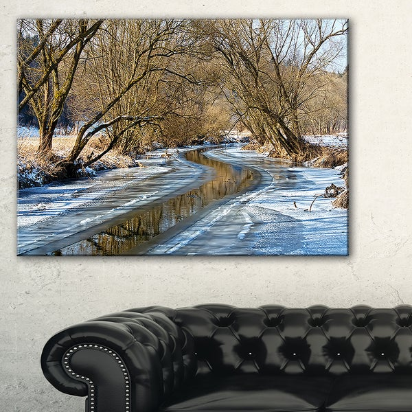 Blue Sunny Day in Winter Landscape - Landscape Artwork Canvas