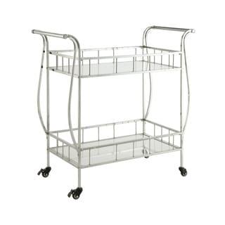 Chrome/ Glass Serving cart