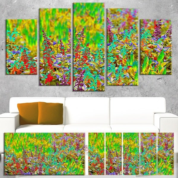 Colorful Textured Flowerbed - Floral Art Canvas Print