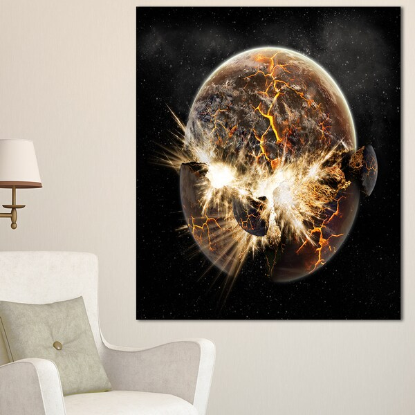 Earth Apocalypse - Abstract Art Canvas Print