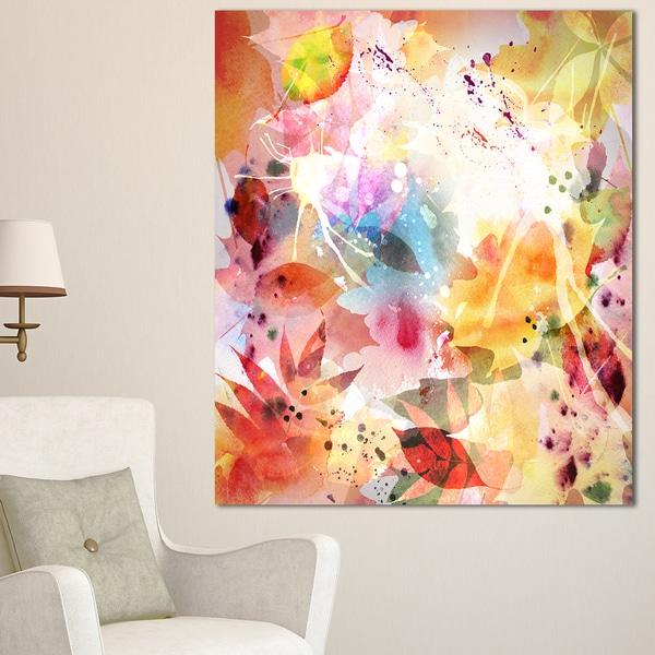 Autumn Floral Pattern - Art Floral Canvas Print