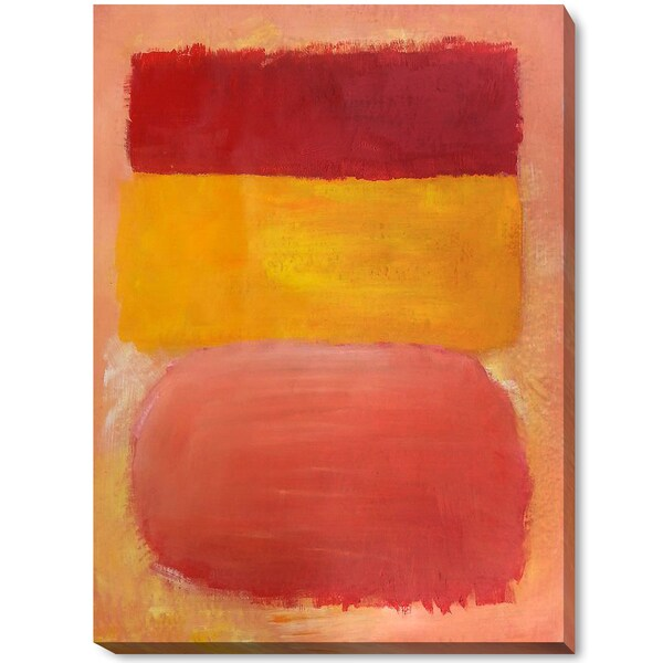 Mark Rothko 'Orange, Red, Yellow' Hand Painted Framed Canvas Art