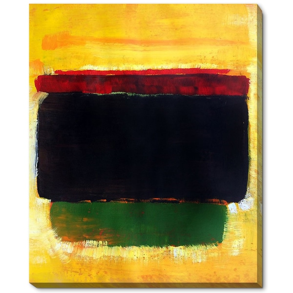 Mark Rothko 'Untitled' Hand Painted Framed Canvas Art