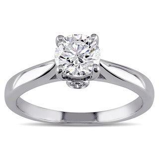 Miadora Signature Collection 18k White Gold 3/4ct TDW Certified Diamond Solitaire Engagement Ring (F, SI1) (GIA)