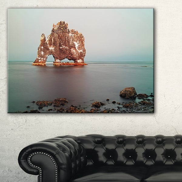 Rock Sea Symbol in Iceland - Extra Large Seashore Canvas Art