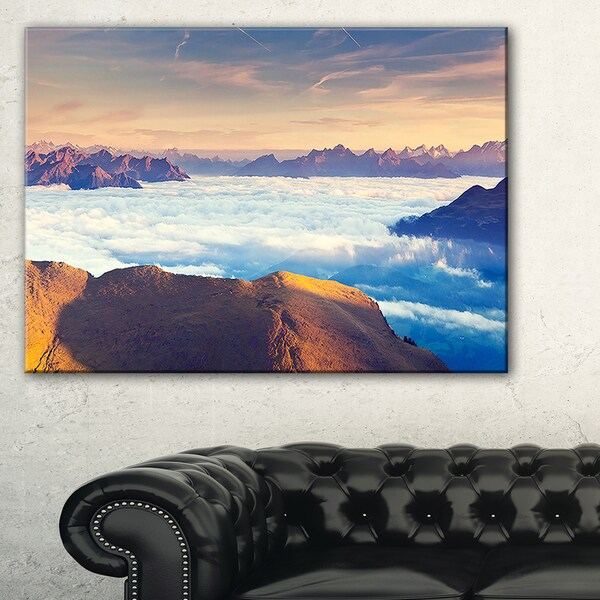 Val Gardena Valley Panorama - Extra Large Seashore Canvas Art