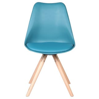 Modern Charles Jacob Style Chair, Teal Leather Seat