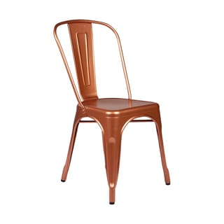 Copper Tolix Style Metal Cafe Chair