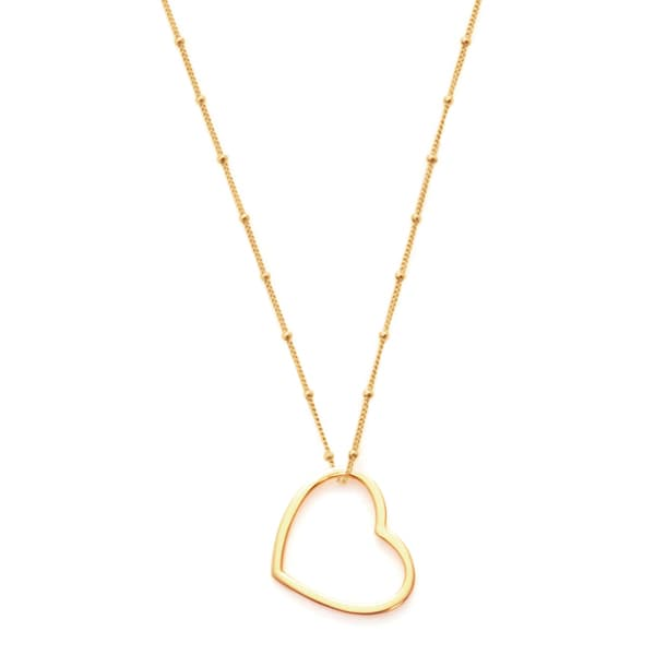 Goldtone Heart Pendant Necklace