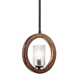 Kichler Lighting Grand Bank Collection 1-light Auburn Stained Mini Pendant/Wall Sconce