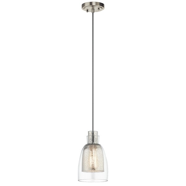 Kichler Lighting Evie Collection 1-light Brushed Nickel Mini Pendant