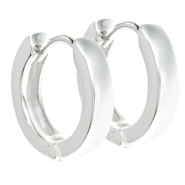 Queenberry Sterling Silver 13mm Ring Hoop Dangle Stud Ear Wire Earrings