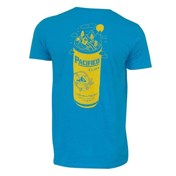 Pacifico Men's Aqua Beer Can T-shirt