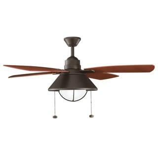 Kichler Lighting Seaside Collection 54-inch Olde Bronze Ceiling Fan w/Light