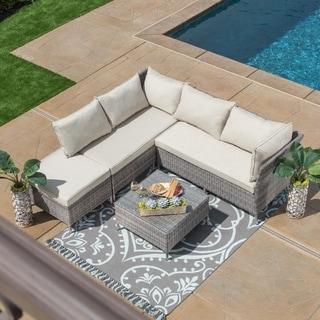 Corvus Bellanger 5-piece Outdoor Seating Set with Glass Tabletop