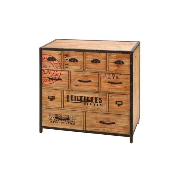 Wood Metal Chest 33 inches high x 33 inches wide)