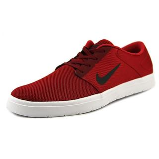 Nike Men's 'SB Portmore Renew' Red Mesh Athletic Shoes