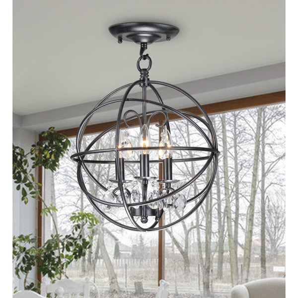 Deimos 3 Light Globe Pendant