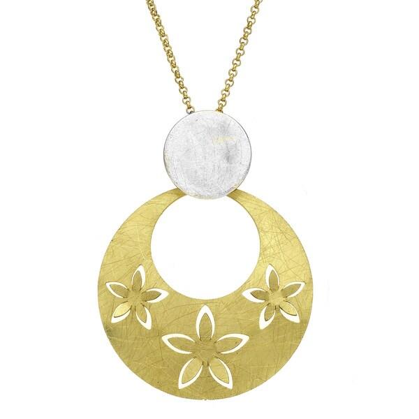 Isla Simone - Two-Tone 3D Flower Necklace