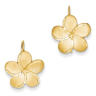 14k Plumeria French Wire Earrings by Versil