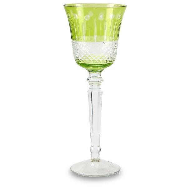 Impulse Glam Green Glass Goblet