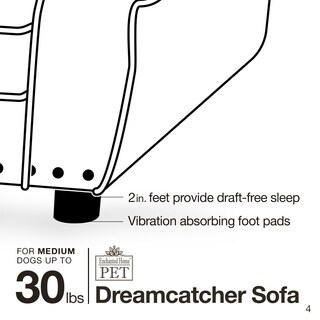Enchanted Home Pet Dreamcatcher Velvet Pet Sofa