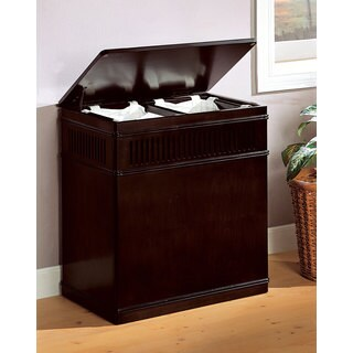 Cappuccino Wood Laundry Hamper