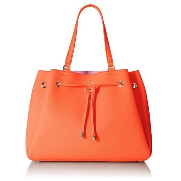 Kate Spade Cape Drive Lynnie Tote Bag - Bright Papaya/Pink Blush